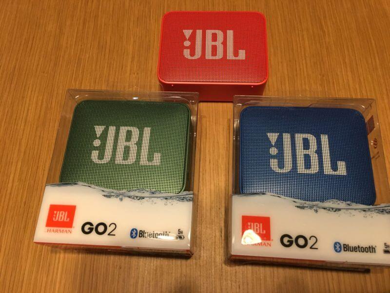 JBL GO2ブルートゥーススピーカーカラーバリエーション