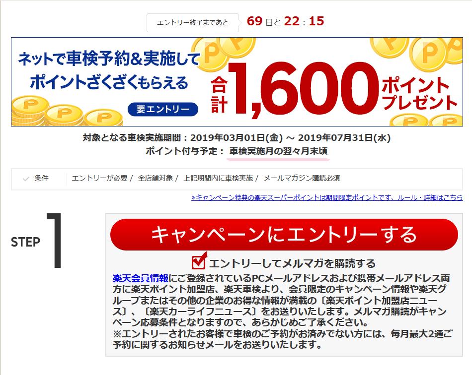 楽天車検キャンペーン