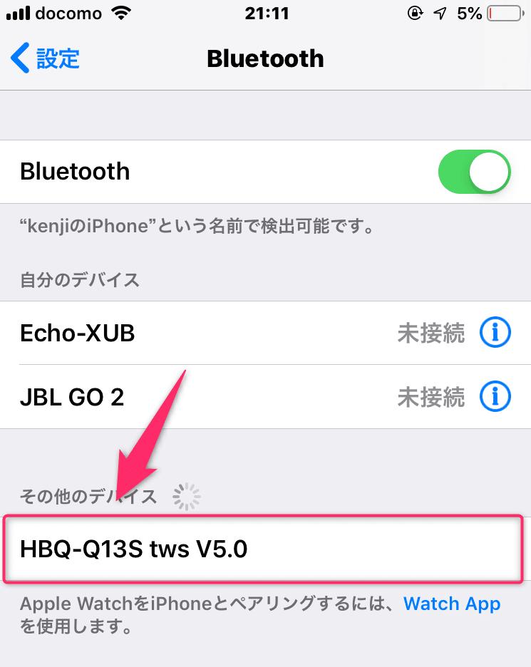 iPhone接続
